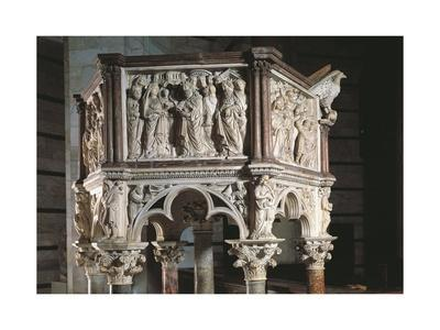 Italy, Tuscany, Pisa, Piazza Dei Miracoli, Baptistry of Saint John, Pulpit, 1260, Detail