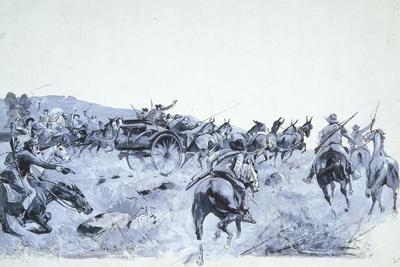 A Boer Convoy Retreating Towards Transvaal, 1900