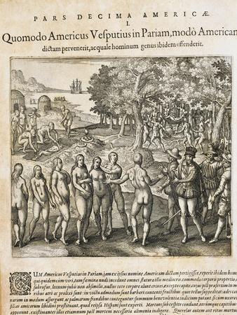 Amerigo Vespucci Discovers the Primitive Population on the Orinoco Delt