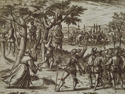 Sentence to Hanging of Some Men of Christopher Columbus in New World, 1590