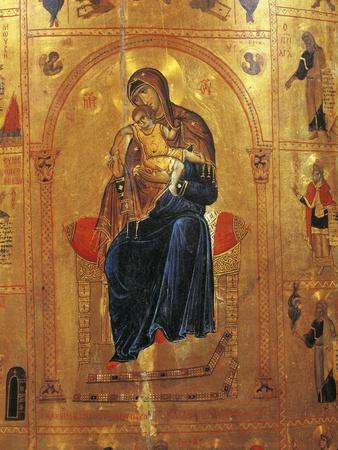 Virgin with Child, Plate from a Byzantine Manuscript