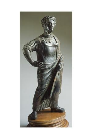 Deity in Bronze Making an Offering. Etruscan Civilization, 400-375 BC