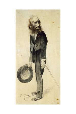 Caricature of Jacques Offenbach