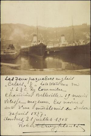 Paquebot Calais Et Lois Walden, 1905, Port