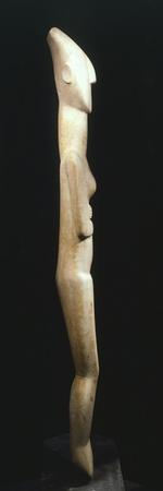 Female Figure Statue, Greece, Side View, Cycladic Civilization, 3500-1050 BC