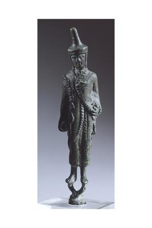 Bronze Statuette Depicting a Haruspex, from the Left Bank of the Tiber, Rome