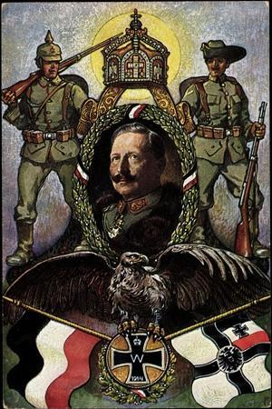 Heil Und Sieg Dem Kaiser, Wilhelm II, 1914, Krone