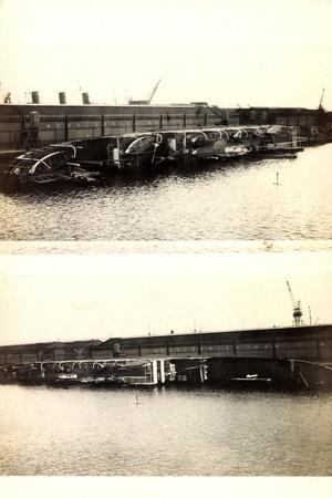 Dampfer Holdec Gekentert Im Hafen,Messageries Marit