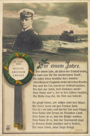 Hogue Aboukir Cressy 1914, U Boot, Seemann, Npg 5343