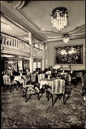 Foto Hapag, Dampfer New York, Halle Der 1 Klasse
