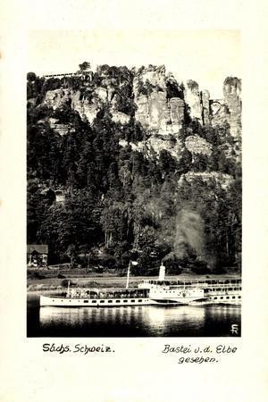 Sächs. Schweiz, Bastei, Elbe, Dampfer Leipzig