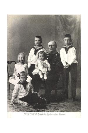 König Friedrich August Iii Von Sachsen, Kinder
