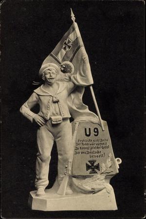 U 9, U Boot, Deutscher Seemann, Kaiserflagge