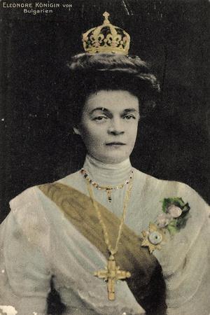 Eleonore Königin Von Bulgarien, Portrait, Krone