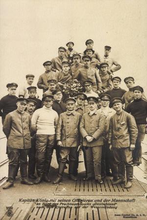 Kapitän König,Offiziere, U Boot Deutschland, Npg 5659