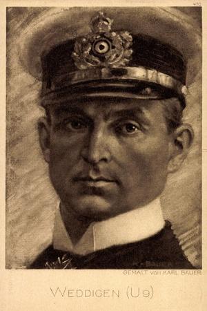 Künstler Bauer,K., U Boot Kommandant Otto Weddigen, U9