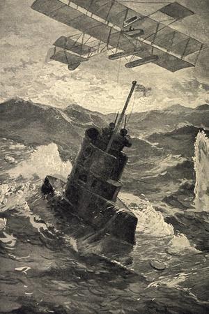 Künstler Kämmerer, R., Deutsches U Boot, Militärflieger