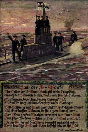 Künstler U Boot Mit Soldaten Auf Hoher See, Gedicht
