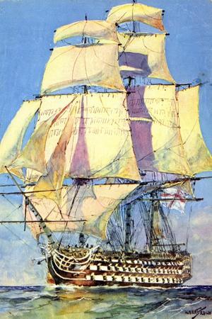 Künstler Sebille, Blick Auf Ein Großes Segelboot
