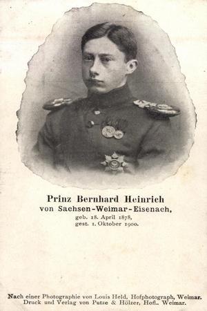 Bernhard Heinrich Zu Sachsen Weimar Eisenach