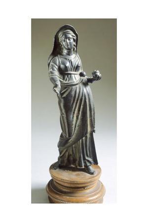 Female Figure in Bronze Making an Offering. Etruscan Civilization, Ca 300 BC.