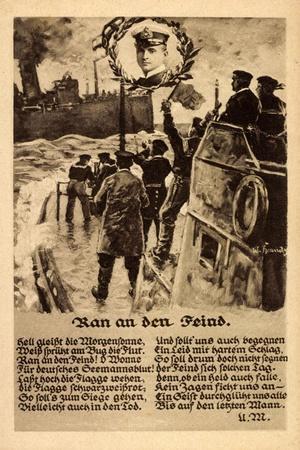 Lied Künstler Ran an Den Feind, Otto Weddigen, U Boot