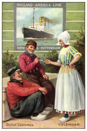 Künstler Dutch Costumes, Volendam, Hapag Dampfer