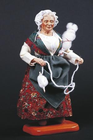 Woman Spinning, Figurine from Provencal Nativity Scene, France