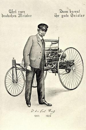Künstler Ehrt Eure Deutschen Meister, Carl Benz,Auto