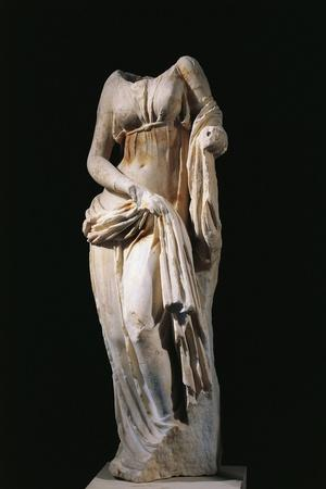 Italy, Sicily, Statue Representing a Headless Muse