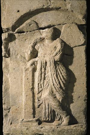 Italic Civilizations, Samnites, Relief with Figure of Psyche, from Campania Region, Italy