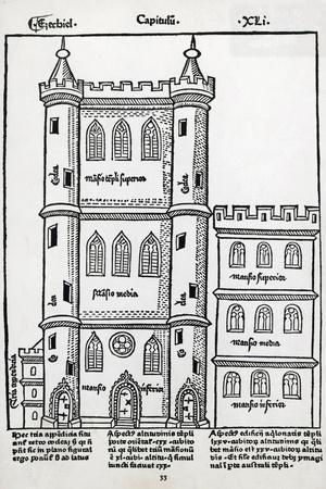 Temple of Solomon from Postilla Super Totam Bibliam, Nicolas De Lyre, 1485