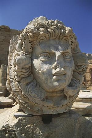 Libya, Tripolitania, Leptis Magna, Severan Forum, Nereid Head