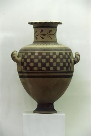 Egypt, Alexandria, Hydria with Geometrical Patterns, Baked Clay