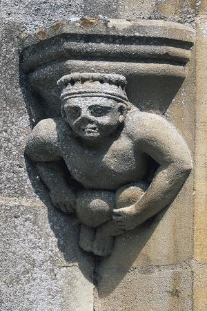 Anthropomorphic Decoration at Entrance of Fontaine-Henry Castle, Near Caen, Lower Normandy, France