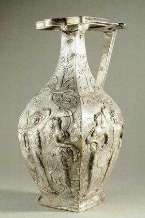Silver Vase Decorated with Bacchic Scenes, from Apahida, Romania