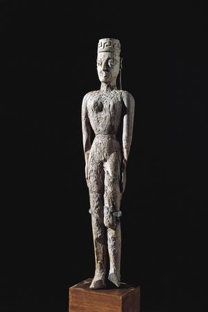8th Century B.C. Ivory Statuette of Goddess, from Necropolis of Dipylon at Athens, Greece