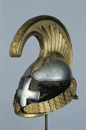 Italian Metal Cavalry Helmet with Officer's Cross