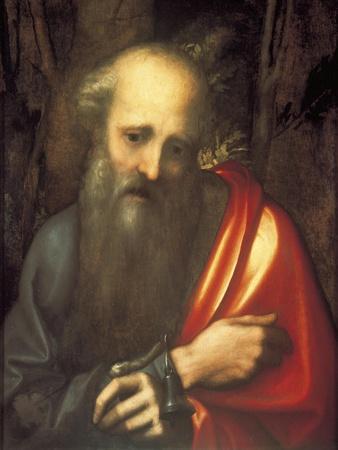 Italy, Naples Painting of Saint Anthony the Abbott