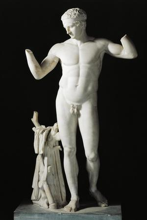 Greek Civilization, Diadumenos by Polyclitus, Roman Marble Copy, from Delos, Greece