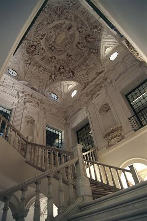 Staircase in Museum of Fine Arts, Former Convent of Merced Calzada, Seville, Andalusia, Spain