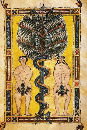 Adam and Eve the Original Sin, Miniature from Review of the Apocalypse of Saint Beatus of Liebana