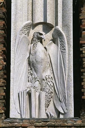 Eagle, Symbol of John the Evangelist, Relief on Facade of Abbey of St. Justina