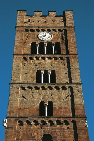 Church of San Jacopo, Cristoforo and Eligio, Bell Tower, Altopascio, Tuscany, Italy