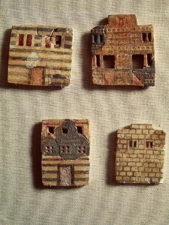Ceramic Tiles Depicting Dwellings, from Greece