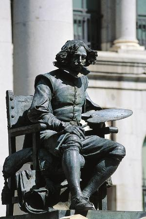 Monument to Diego Velasquez in Front of Prado Museum, Madrid, Spain