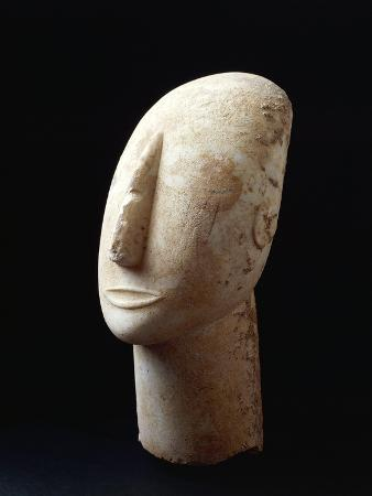 Cycladic Civilization Head from Amorgos, Greece