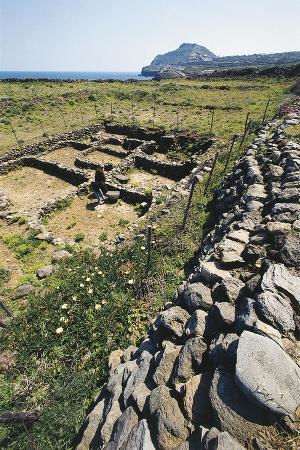 Italy, Sicily Region, Palermo Province, Ustica Island, Neolithic Village of Colombaia or Faraglioni