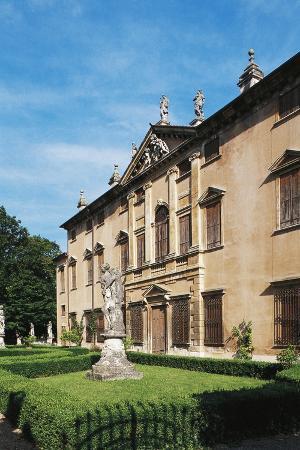 Villa Piovene by Schio, Facade Facing Garden, Castelgomberto, Veneto, Italy
