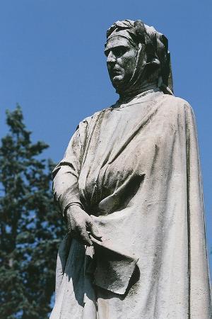Statue of Francesco Petrarca, Church of St. Mary of Carmine, Padua, Veneto, Italy, Detail